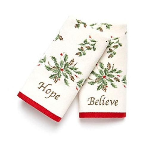 (Lenox Fingertip Towel Set, Believe and Hope)