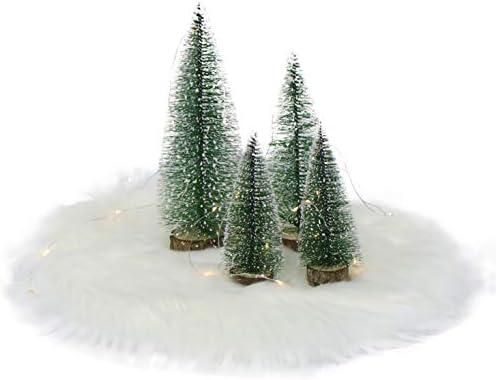テーブルトップミニクリスマスツリー クリスマステーブル装飾装飾 6点セット