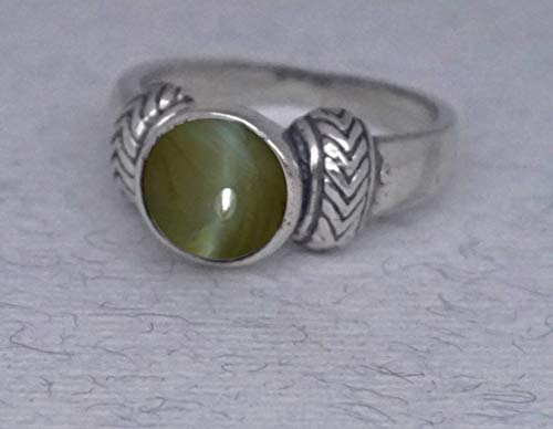 Cat's Eye Chrysoberyl A gift with luck from the Holy Land Abundance and Fortune Gemstone Ring