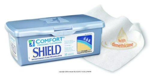 Shield Incontinence Care Washcloths - (BX) Comfort Shield(r) Perineal Care Washcloths