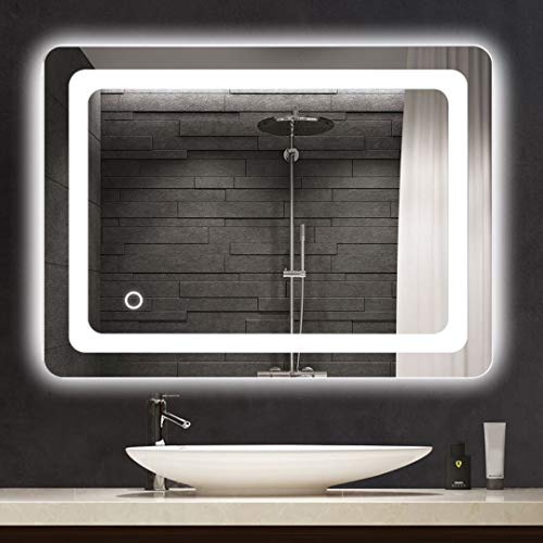 Cozy Castle Bathroom Mirror with LED Lights Lighted Makeup Vanity Mirror Wall -