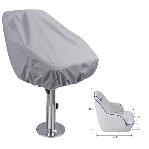 NORTHCAPTAIN 100% Waterproof Boat Seat Cover, Custom Fit Captain Bucket Boat Seat Cover, Light Grey