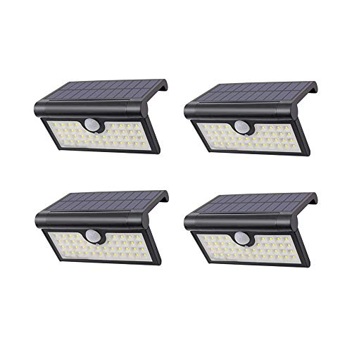 Solar Light Motion Sensor Light Wireless Folded Outdoor Light 42LED Waterproof Courtyard Path Light Energy Saving Used for Garage Garden Patio Balcony 2W -4Pack by Decoroom