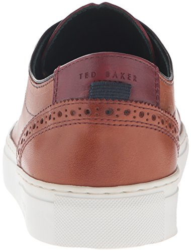Sneaker Ted Baker Mens Kiing Fashion In Pelle Marrone Chiaro