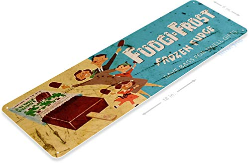 TIN Sign B464 Fudgi-Frost Retro Popsicle Ice Cream Truck Metal Sign Parlor Kitchen Cottage 6