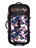 Roxy Womens Roxy Long Haul 125L - Extra Large Wheeled Suitcase - Women - One Size - Pink Living Coral Plumes One Size