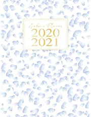 Academic Planner 2020-2021: Blue Abstract Watercolor Paint & Gold Monthly Weekly for Women College Student High School at a glance July 2020- June 2021 Calendar