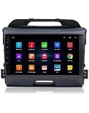 XMZWD Auto Multimedia Player Android 9.1 Auto Navigatiesysteem 9 inch touchscreen autoradio voor KIA Sportage R 2011-2017 ondersteunt Bluetooth/WiFi/Multimedia/stuurbediening, 4+64G