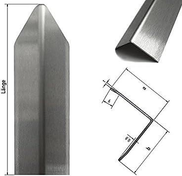 Material: Al99,5 1500mm x 40x40mm Oberfl/ächenoptik: Stucco dessiniert in 1mm Materialst/ärke 1,5 Meter langer Aluminium Kantenschutz Winkel Schenkell/änge Innenma/ß 4x4 cm