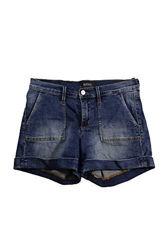 Buffalo David Bitton Women's Faith Mid Rise Roll Cuff Blue Jean Shorts, Royal Wash, 28 ()