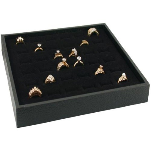FindingKing Jewelry Display Case Box 36 Ring Velvet - Tray Wholesale