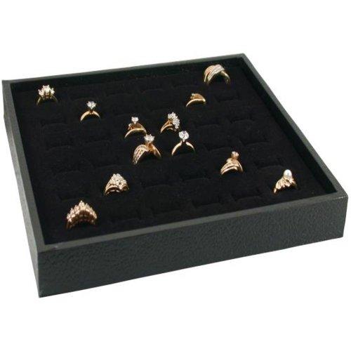 Jewelry Display Case Box 36 Ring Velvet Insert New