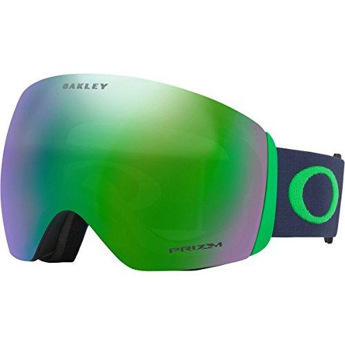 Oakley Flight Deck Snow Goggles, Fathom Navy Frame, Prizm Jade Iridium Lens, - Oakley Fathom