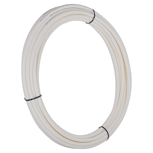 SharkBite U850W50 PEX Pipe Tubing 1/4 Inch, White, Flexible Water Tu, 50 foot coil,