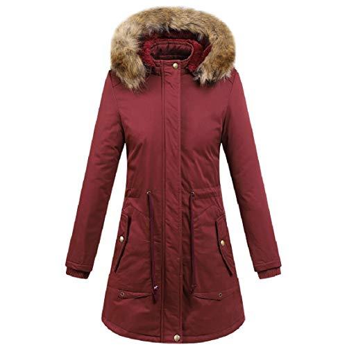 Plus Puro In Lana Collo Cappotto Colore Rosso lunga Velluto Energy Colour Pelliccia Lavato Medio q8X5w1a