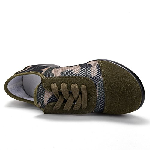 Scarpe Con Tacco A Spillo Jazz Suola In Mesh Per Donne Scarpe Stringate Da Ballo Ballroom B Verde Militare