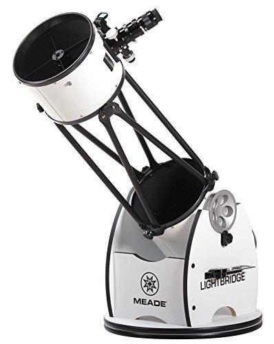 Meade Instruments 1005 05 03 Lightbridge 10 Inch Truss Tube Dobsonian Reflector Telescope  Open Truss  Black
