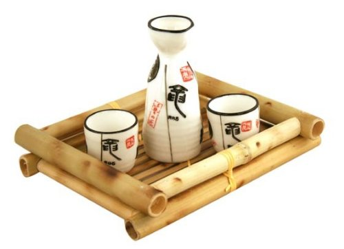 Glazed Ceramic 3 Pcs Japanese Sake Set In Gift Box MZO SYNCHKG015584 POR083