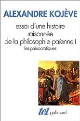 Essai d'une histoire raisonnée de la philosophie païenne (Tome 1)