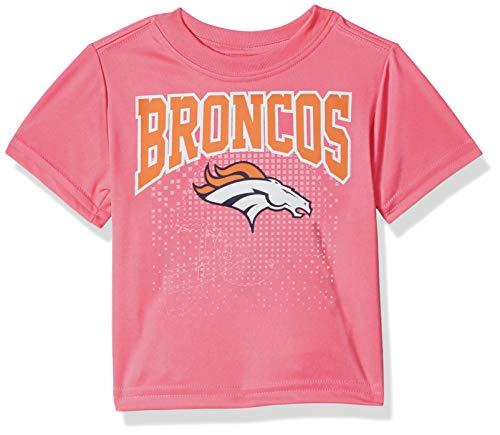 NFL Denver Broncos Baby-Girls Short-Sleeve Tee, Pink, 12 -