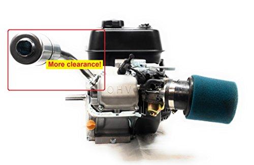 (Exhaust With Muffler for: Predator 212cc, Honda GX160, GX200)
