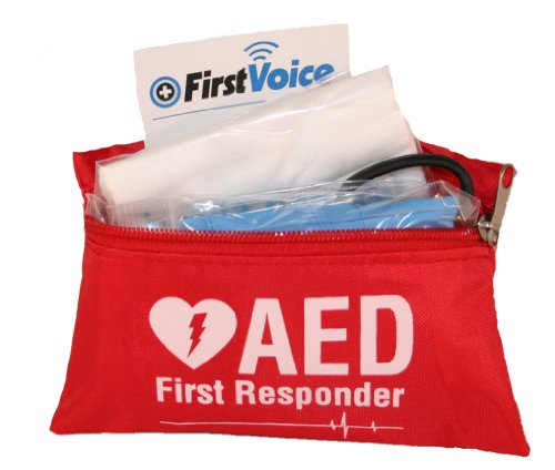 First Voice V18112 AED/Defibrillator Fast Response Kit with Red Nylon (Emergency Response Kit)