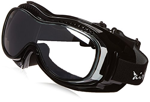 (Pacific Coast Airfoil Padded 'Fit Over Glasses' Riding Goggles (Black Frame/Silver Smoke)