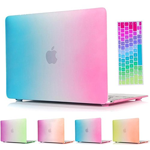 macbook-air-11-inch-casesoundmae-2in1-2in1-matte-rubberized-rainbow-colorful-hard-cases-cover-keyboa