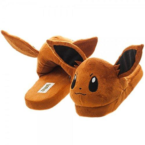 Pokemon Eevee 3d Pluche Pantoffels M Bruin