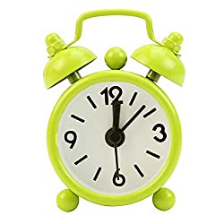 OHTOP Fashion Home Room Kid Portable Teen Mini Cute Dial Number Round Desk Alarm Clock