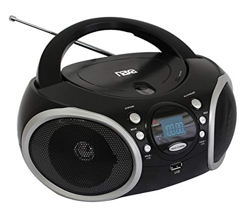 NAXA Electronics NPB-276 Portable Boombox, MP3/CD Player with AM/FM Analog Radio & USB Input