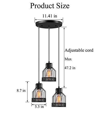 Industrial Pendant Lighting Licperron E26 Base Edison