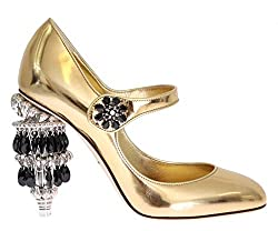 Leather With Crystal Chandelier Shoes