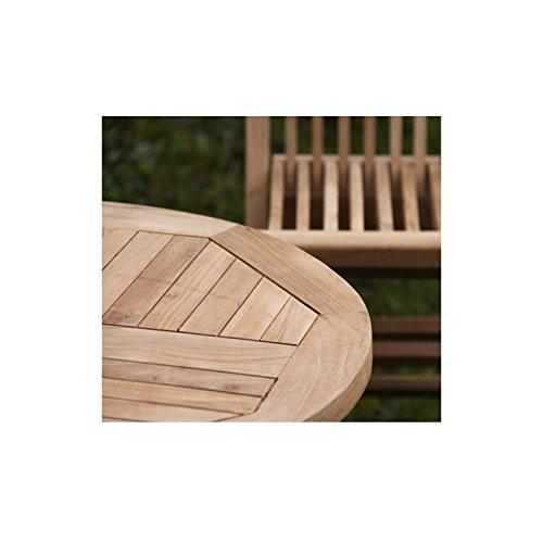 Salon de jardin pour enfant en TECK BRUT QUALITE GRADE A - Table + 2 ...