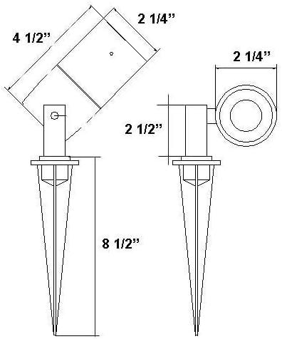 LED Low Voltage Modern Bullet Lighting
