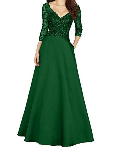 Steine Bodenlang Abendkleider Jaeger Brautmutterkleider Gruen A Satin Linie Rock La 2018 Braut mia Ballkleider Pailletten 8RH1HtB
