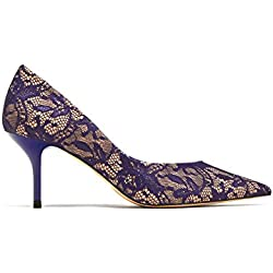Zara Women High heel lace court shoes 6902/201 (39 EU | 8 US | 6 UK)