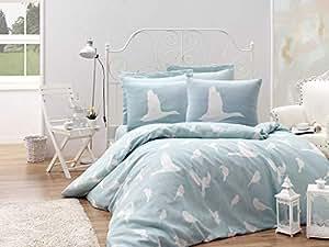 EnLora Home Enya Single XL Quilt Cover Set, Mint/White, 155 x 200 cm, 162ELR78425