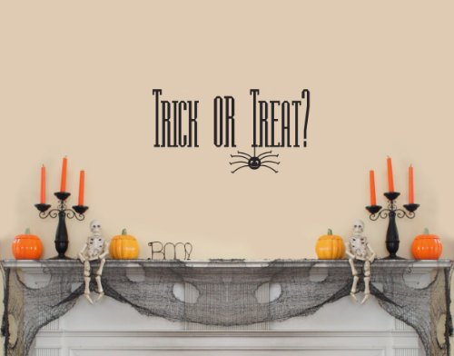 Trick or Treat Wall Saying Halloween Wall Decal Banner Sticker Set Home Decoration Party -
