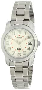 Timex Women's T2N432 Elevated Classics Sport Chic Silver-Tone Bracelet Watch