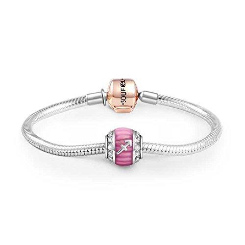 Soufeel 925 Sterling Silver Fire Sign Sagittarius Charm Bracelet 9.1 Inch