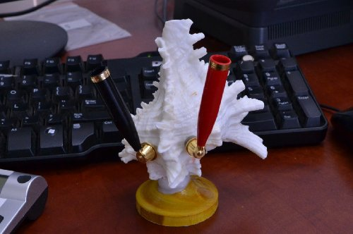 White Murex Sea Shell Desk Pencil Pen Cup Holder (Seashell Pen)