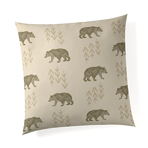 "Glenna Jean Fairbanks 18""x 18"" Pillow with Fill for Baby Nursery, Decorative Soft Cushion Square"