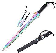 Snake Eye Full Tang Tactical Blade Katana/Ninja Sword/Machete/Throwing Knife..27-Inch (RB)