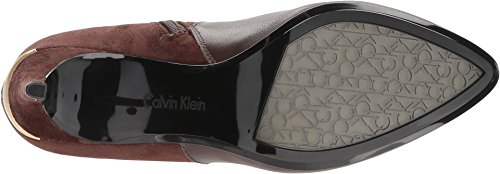 Microsuede Womens Silk Klein Cow Bean Jemamine Coffee Calvin FH0vqgwv
