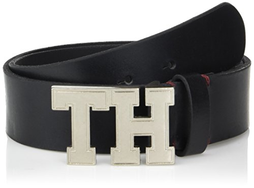 Tommy Hilfiger Men's Casual Belt, black plaque, 44 ()