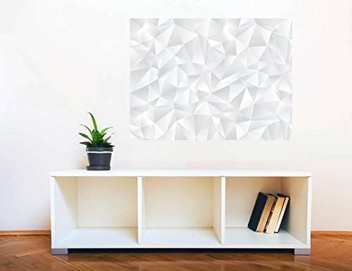 Removable Wall Sticker Wall Mural Abstract White Geometric Seamless Pattern Creative Window View Wall Decor
