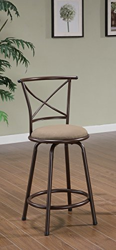 Cheap Klinge Barstool in Brown [Set of 2] Size: 24″