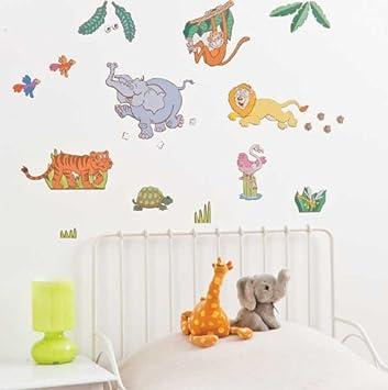 Amazoncom FunToSee Jungle Safari Boys Nursery And Bedroom Wall - Nursery wall decals jungle