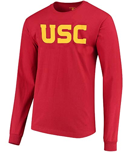289c apparel USC Trojans Mens Crimson Wordmark Long Sleeve T Shirt (Large)